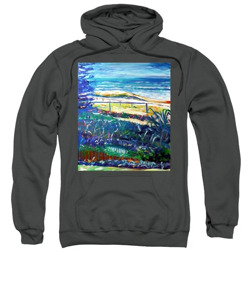 Sweatshirt featuring the painting Dune Grasses by Winsome Gunning