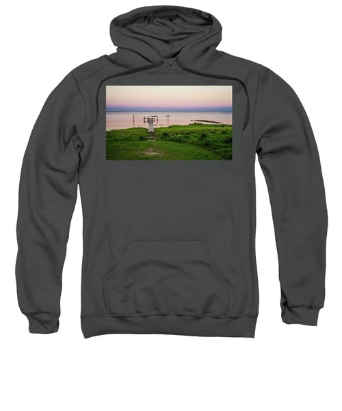Dusk At Battle Point, Accomac, Virginia Sweatshirt
