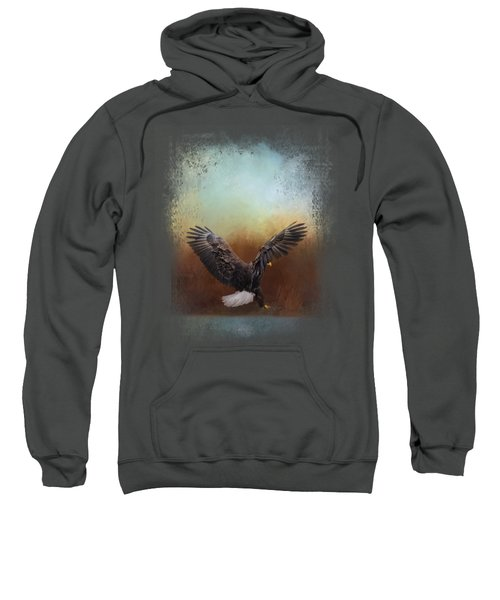 Eagle Hunting In The Marsh Sweatshirt by Jai Johnson