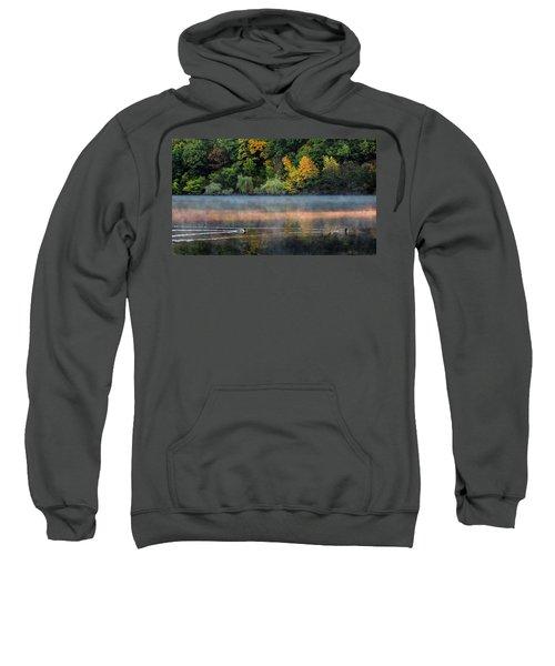 Early Autumn Morning At Longfellow Pond Sweatshirt
