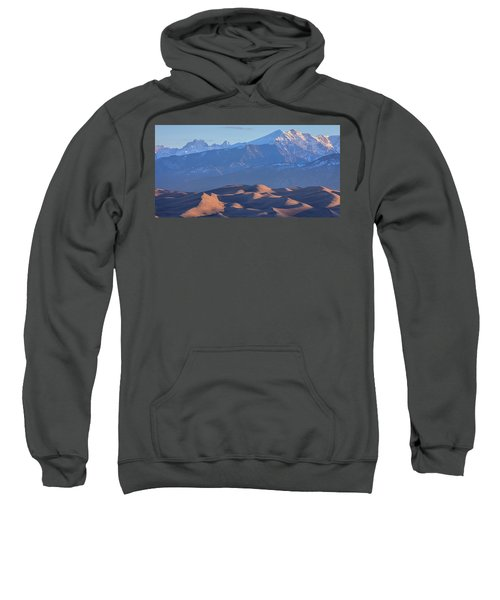 Early Morning Sand Dunes And Snow Covered Peaks Sweatshirt by James BO Insogna