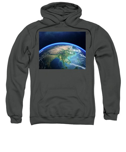 Earth From Space Asia View Sweatshirt
