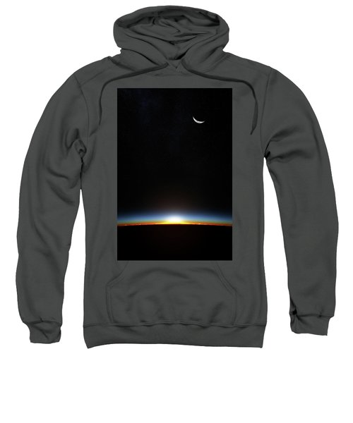 Earth Sunrise Through Atmoshere Sweatshirt