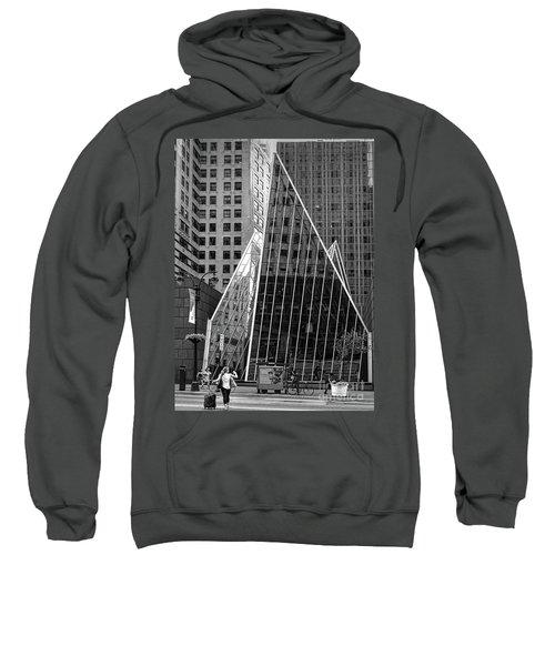 East 42nd Street, New York City  -17663-bw Sweatshirt