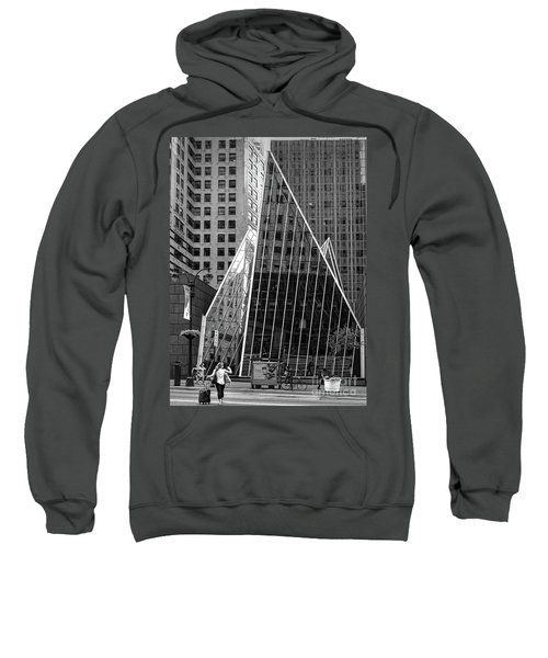 East 42nd Street, New York City  -17663-bw Sweatshirt