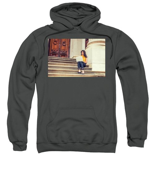 East Indian American College Student Studying In New York Sweatshirt
