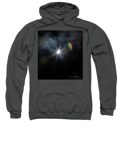 Solar Eclipse 2017 And Rainbow Sweatshirt
