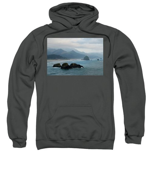 Ecola State Park View Of Haystack Rock And 3 Arch Rocks Sweatshirt