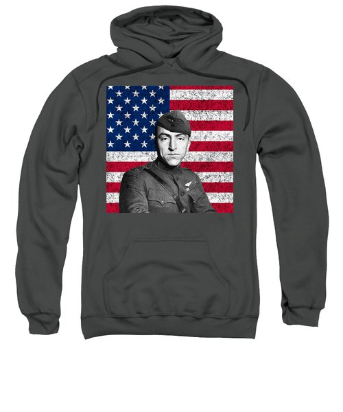 Eddie Rickenbacker And The American Flag Sweatshirt
