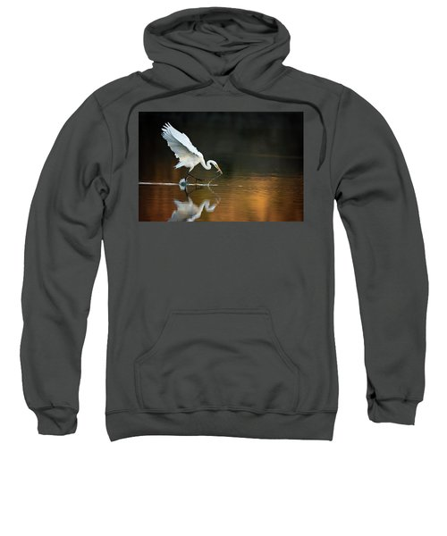 Egret At Sunset Sweatshirt
