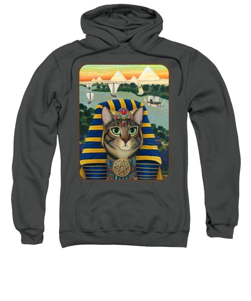 Egyptian Pharaoh Cat - King Of Pentacles Sweatshirt