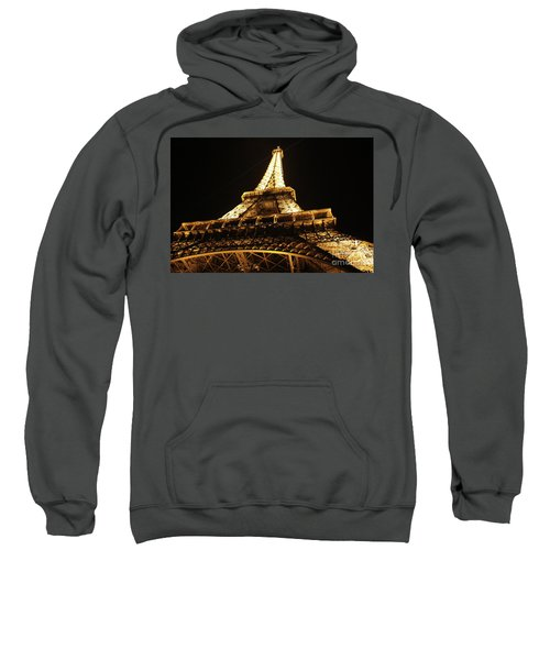 Sweatshirt featuring the photograph Eiffel Tower At Night by MGL Meiklejohn Graphics Licensing
