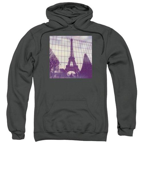 Eiffel Tower Through Fence Sweatshirt by Aurella FollowMyFrench
