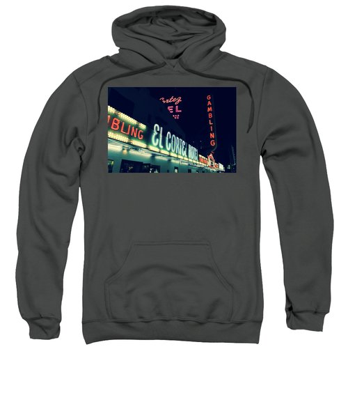El Cortez Hotel At Night Sweatshirt