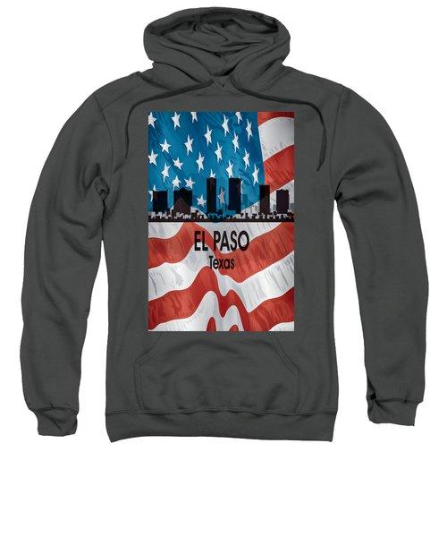 El Paso Tx American Flag Vertical Sweatshirt