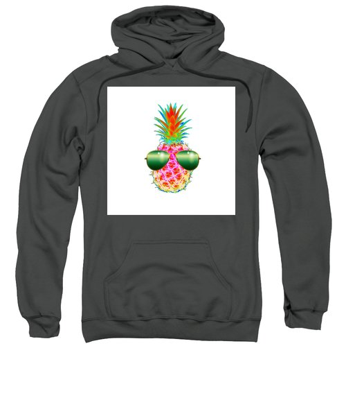 Electric Pineapple With Shades Sweatshirt