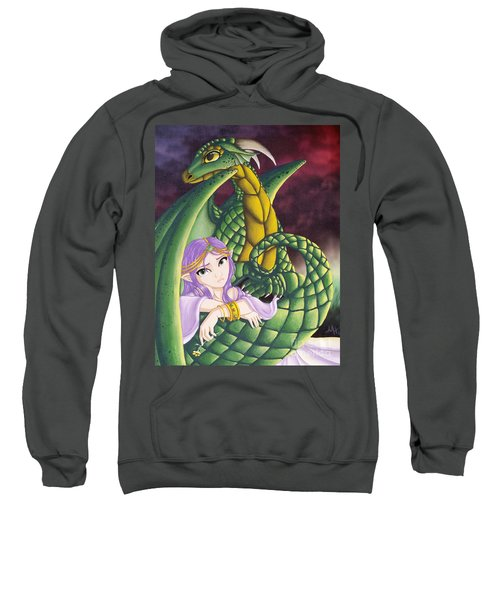 Elf Girl And Dragon Sweatshirt