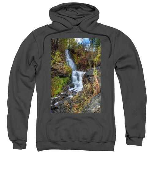 Elk Creek Waterfall Waterscape Art By Kaylyn Franks Sweatshirt