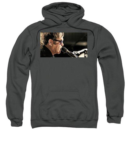 Elton John At The Mic Sweatshirt