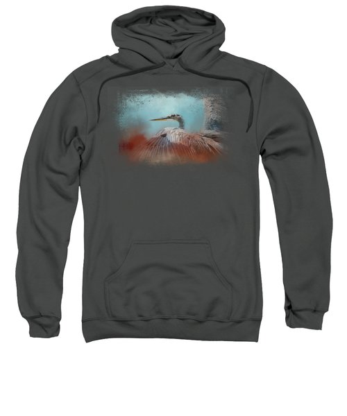 Emerging Heron Sweatshirt by Jai Johnson