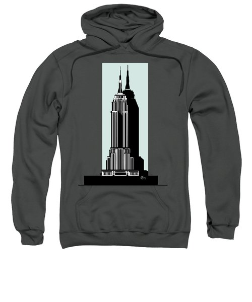 Empire State Building Deco Minimal Sweatshirt by Cecely Bloom