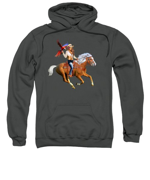 Enchanted Jungle Rider Sweatshirt by Glenn Holbrook