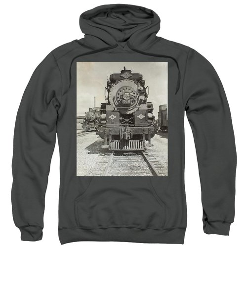 Sweatshirt featuring the photograph Engine 715 by Jeanne May