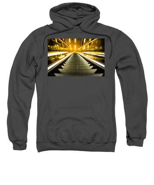 Sweatshirt featuring the photograph Escalator by Stephen Holst