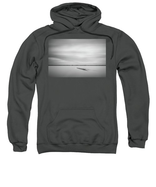 Ethereal Long Exposure Of A Pier In The Lake Sweatshirt