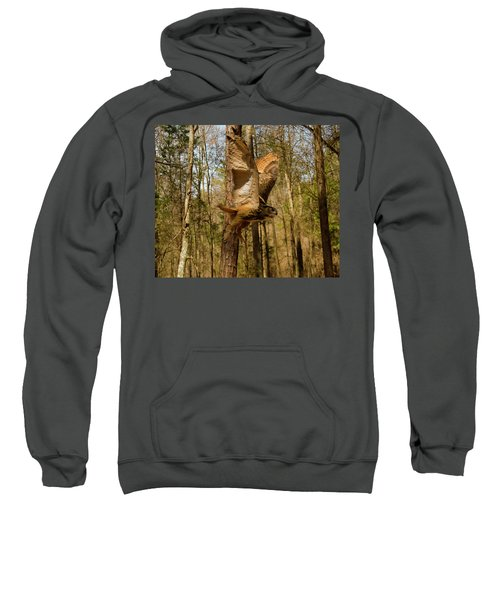Eurasian Eagle Owl In Flight Sweatshirt