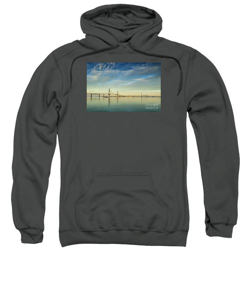 Evening Lights On The Bay Cadiz Spain Sweatshirt