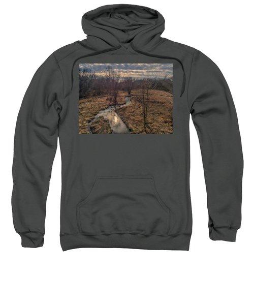 Evening Sun On The Creek Sweatshirt