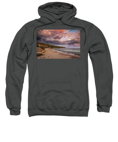 Explosion Of Colored Clouds Sweatshirt