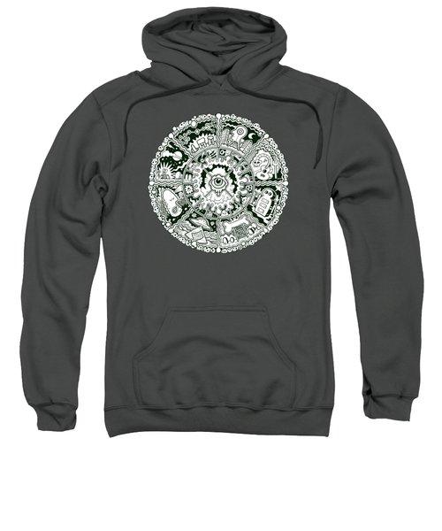 Eye Mandala Black And White Sweatshirt