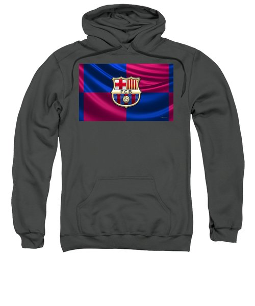 F. C. Barcelona - 3d Badge Over Flag Sweatshirt
