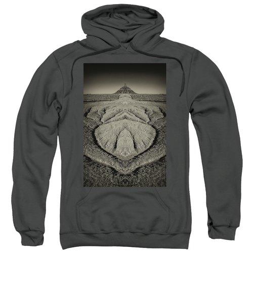 Factory Butte Digital Art Sweatshirt