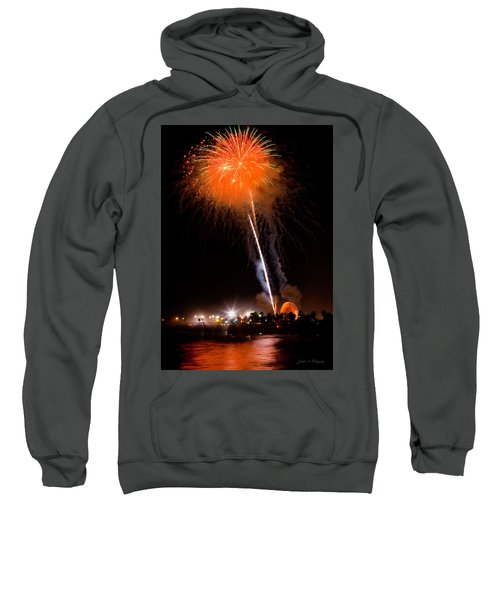 Fireworks As Seen From The Ventura California Pier Sweatshirt