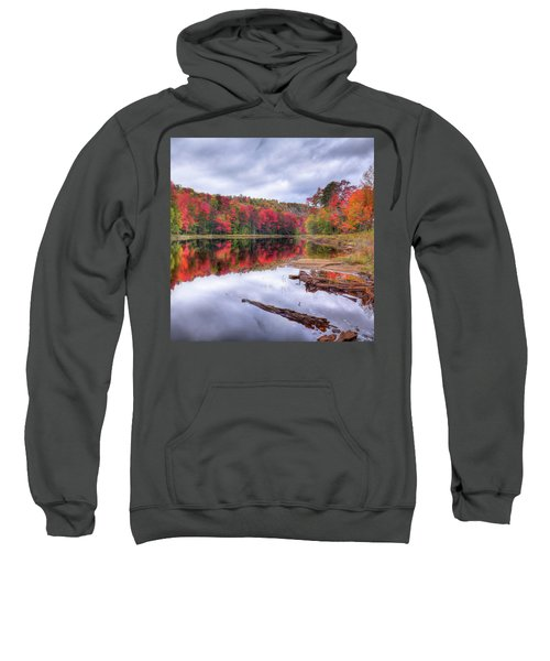 Sweatshirt featuring the photograph Fall Color At The Pond by David Patterson