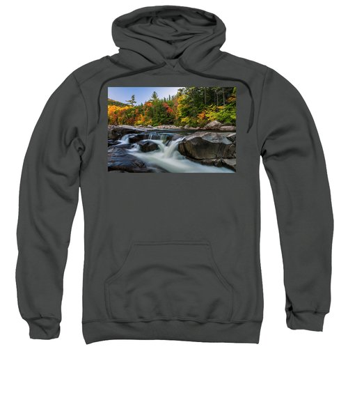 Fall Foliage Along Swift River In White Mountains New Hampshire  Sweatshirt