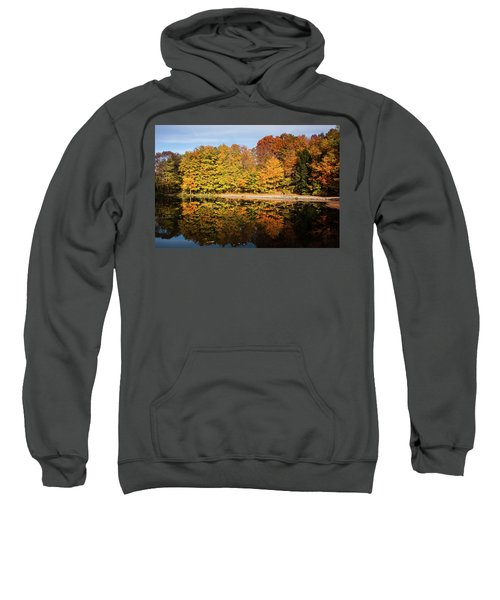 Fall Ontario Forest Reflecting In Pond  Sweatshirt