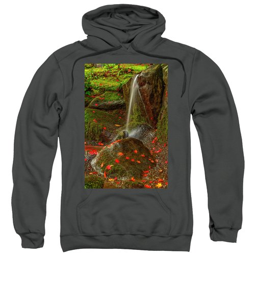 Falls In Seattle Japanese Garden Sweatshirt