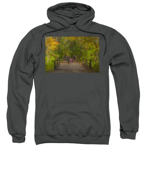 Family Walk At Borderland Sweatshirt