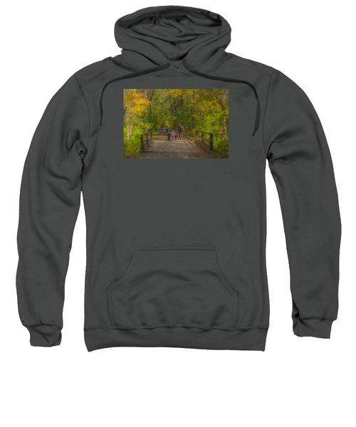 Family Walk At Borderland Sweatshirt