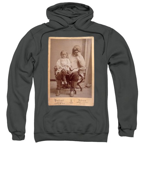 Sweatshirt featuring the painting Famous Russian Sideshow Performer Jo-jo The Dog-faced Boy by Celestial Images
