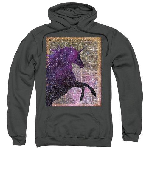 Fantasy Unicorn In The Space Sweatshirt