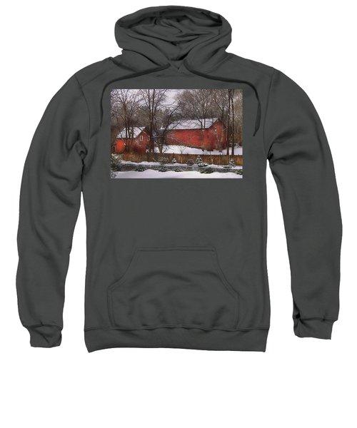 Farm - Barn - Winter In The Country  Sweatshirt