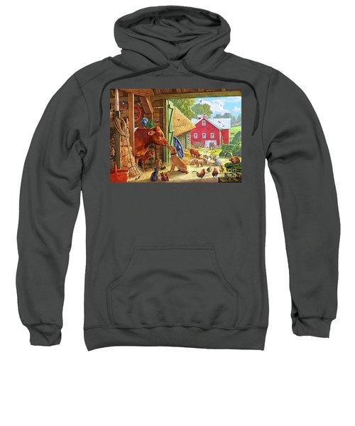 Farm Scene In America Sweatshirt