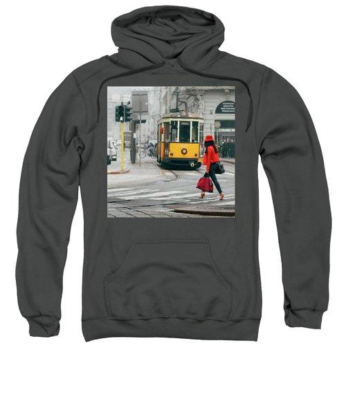 Fashionista In Milan, Italy Sweatshirt