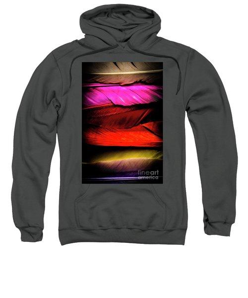 Feathers Of Rainbow Color Sweatshirt