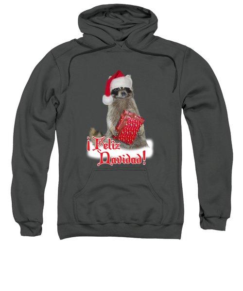 Feliz Navidad - Raccoon Sweatshirt by Gravityx9  Designs